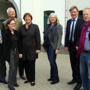 Besuch von SPD-Politikern im Brauweiler Kunstarchiv