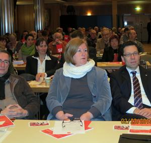 Natürlich auch vor Ort: Bundestagskandidat Dierk Timm mit seiner Frau Barbara Timm-Heising.