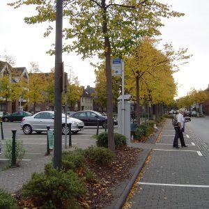 Marktplatz Stommeln mit Parkgebühren
