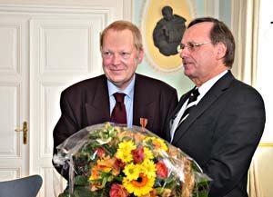 Dr. Jürgen Rolle und Landrat Werner Stump