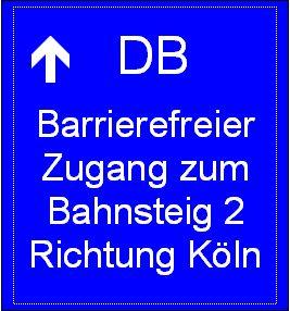 Bahnhof Pulheim Wegweiser