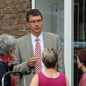 Bürgermeisterkandidat Florian Herpel im Gespräch