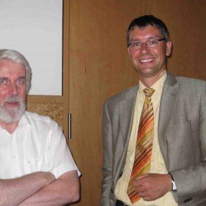 Florian Herpel im Gespräch mit Referent Prof. Dr. Rainer Strätz