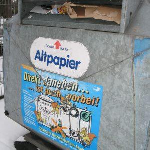 Müllcontainer verschandeln das Stadtbild