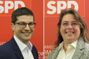 Die BewerberInnen zur BM Kandidatur der SPD Pulheim: Alexander Toth und Marion Reiter
